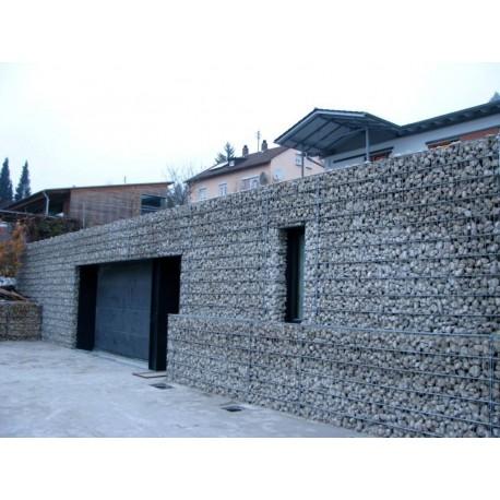 Steinfassade Gabione