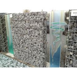 Glaskunst Gabionenwände